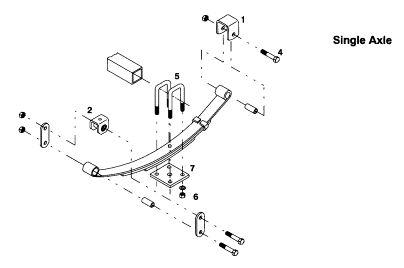 single axle trailer wire diagram