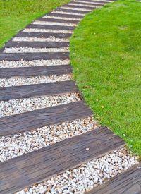 65 Walkway ideas & Designs (BRICK, FLAGSTONE & WOOD ...