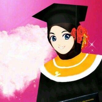 Muslim Girl In Hijab Wallpaper Graduation Muslimah Cartoon Muslimah Pinterest