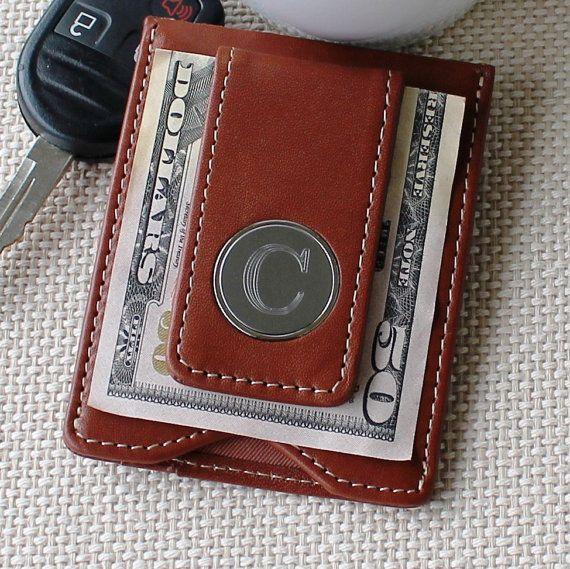 monogrammed money clips