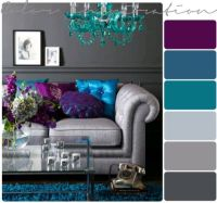 Purple, grey and turquoise living room | my living room ...