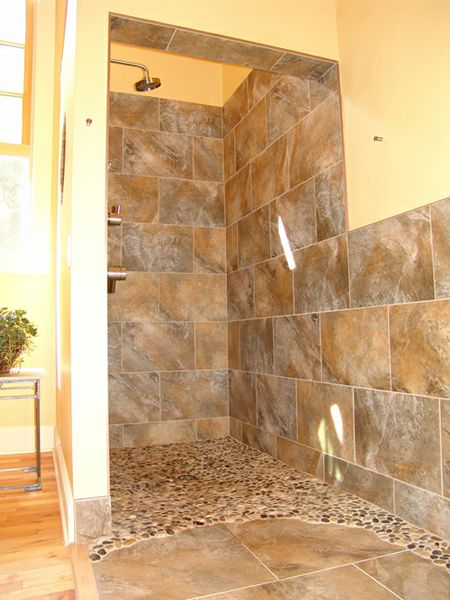 Tiled Shower Stall Designs 50 Best Images About Doorless Shower On Pinterest | Log
