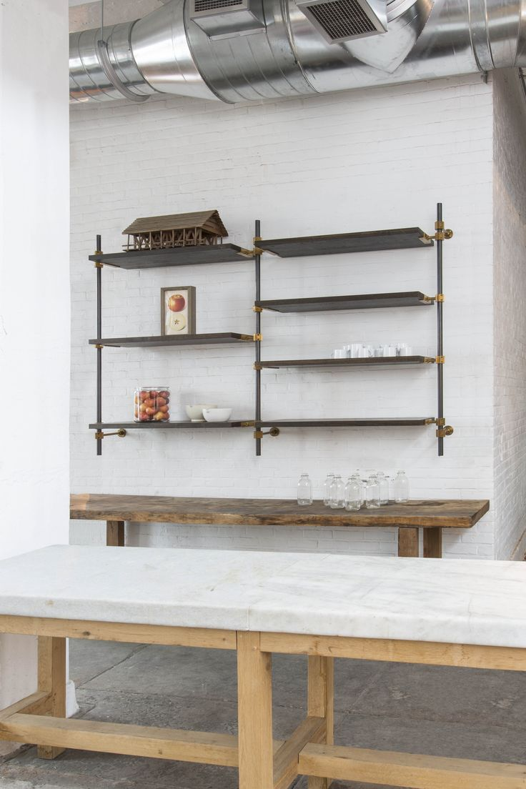 Open Kitchen Shelves Using Our Collector S Shelving System With 1000+ Images About Amuneal Loft Shelving System On