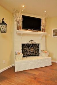 78 best images about Painted White Brick Fireplaces on ...