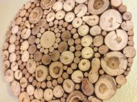 Modern Rustic Wood Slice Round Circle Spiral Wall Art ...