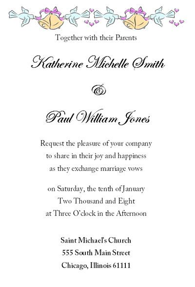 Wedding Invitation Letter Sample Free u2013 Mini Bridal - business meet and greet invitation wording