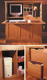 25+ best ideas about Hideaway computer desk on Pinterest ...