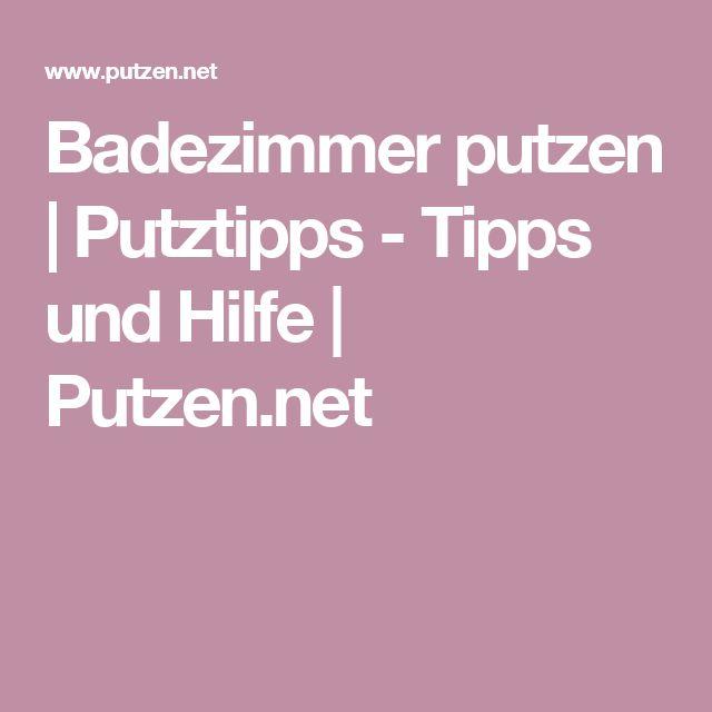 Badezimmer putzen Putztipps - Tipps und Hilfe Putzennet - badezimmer pink