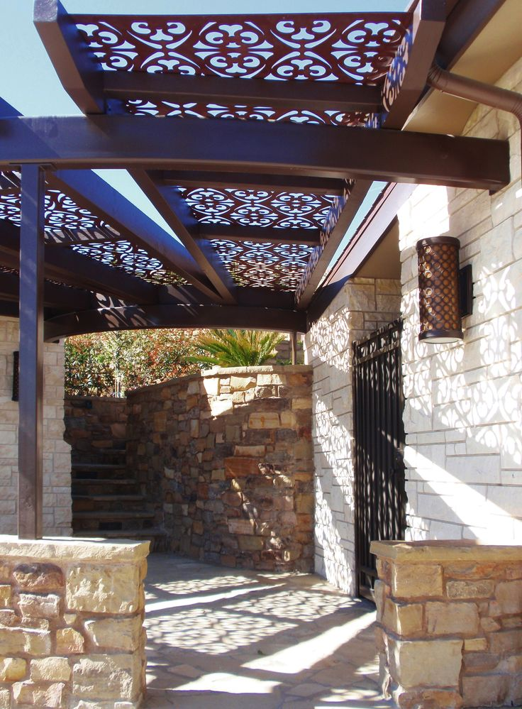 A Beautiful Patio Or Deck Shade In A Unique Backyard Or