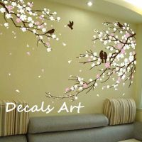 Cherry Blossom Branches with Birds - Vinyl wall sticker ...