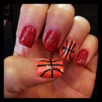 Basketball nails | Nails | Pinterest | Basketball nails ...