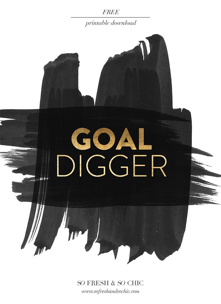 Girl Boss Wallpaper Iphone For The Home Are You A Goal Digger Free Printable