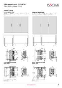 Pivot sliding door: Hawa Concepta | Furniture hardware ...