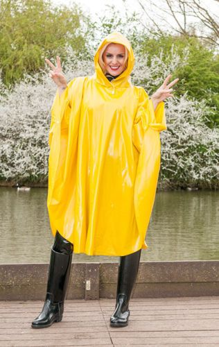 Child Car Seat Jacket Yellow Pvc Hooded Cape Poncho Pinterest