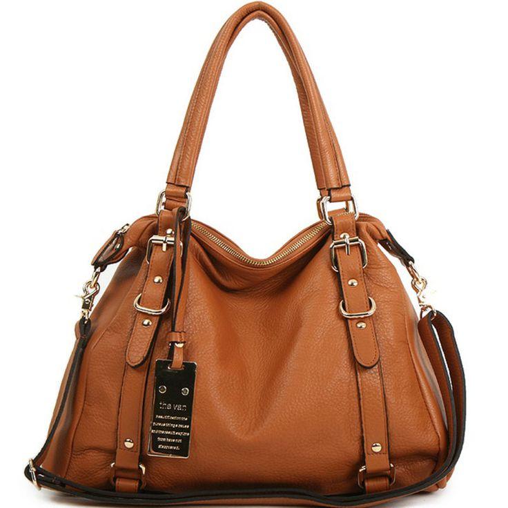 new leather handbag shoulder women bag brown black hobo