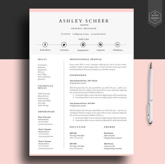 Free Professional Cv Template Word. Example Nursing Resume