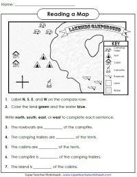 Printable Map Skills Worksheets Middle School - world ...