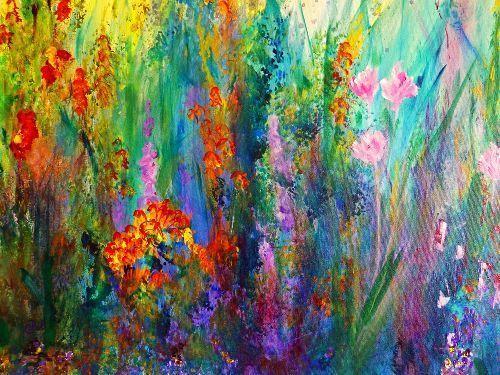 Bluebonnet Iphone Wallpaper Meadow Flowers A Beautiful Meadow 20x24 Acrylic On