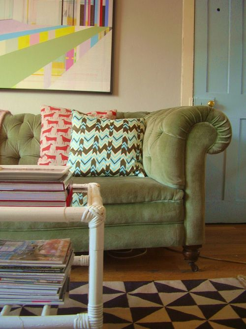 Chesterfield Sofas Melbourne Green Chesterfield Sofa | Living Room | Pinterest