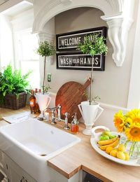 idea for above the sink with no window | kitchen sink ...