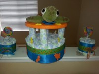 "Finding Nemo ""Squirt"" diaper cake 
