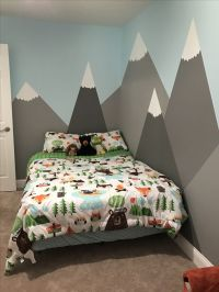 My son Kyler's room (via ktgardner) Mountains painted on ...