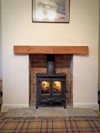 Island 1 Brick fireplace oak beam reclaimed yorkshire ...