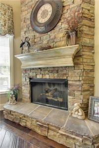 17+ best ideas about Stacked Stone Fireplaces on Pinterest ...