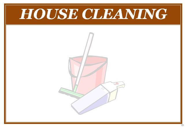 House Cleaning Services Flyer Templates - house cleaning flyer template
