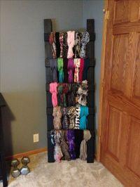 DIY scarf holder! | Future home | Pinterest | Scarf holder ...