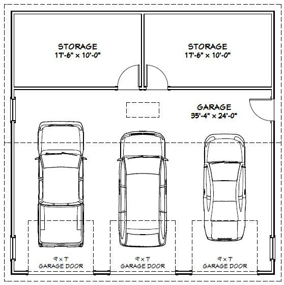 2 Car Garage Dimensions Garage Dimensions - Google Search | Andrew Garage