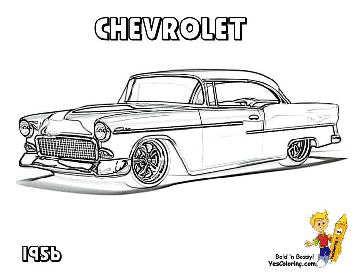 1957 chevy bel air coloring pages