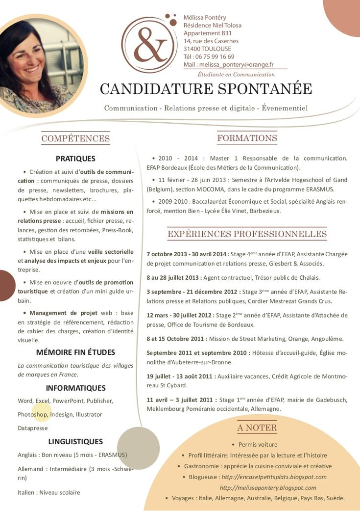 cv type lettre de motivation
