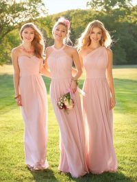 25+ best ideas about Light Pink Bridesmaid Dresses on