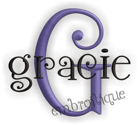 embroitique gracie monogram font set