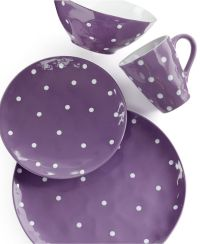 Maxwell & Williams Sprinkle Purple 4-Piece Place Setting ...