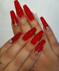25+ best ideas about Long red nails on Pinterest | Red ...