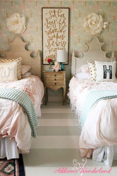 Best 20+ Girls Bedroom Wallpaper ideas on Pinterest   Little girl bedrooms, Pretty little girls ...