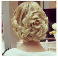 Elegant flower braid updo | Beauty  | Pinterest | Elegant ...