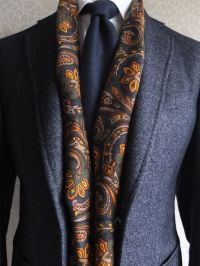 81 best images about Patterned Silk Scarves for Men on ...