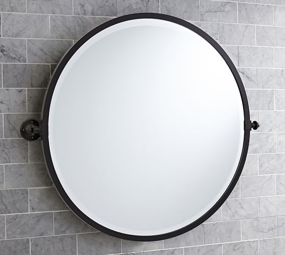 Antique Bronze Bathroom Mirrors Round Vs Oval Bathroom Mirrors ~~~ Http://www.potterybarn