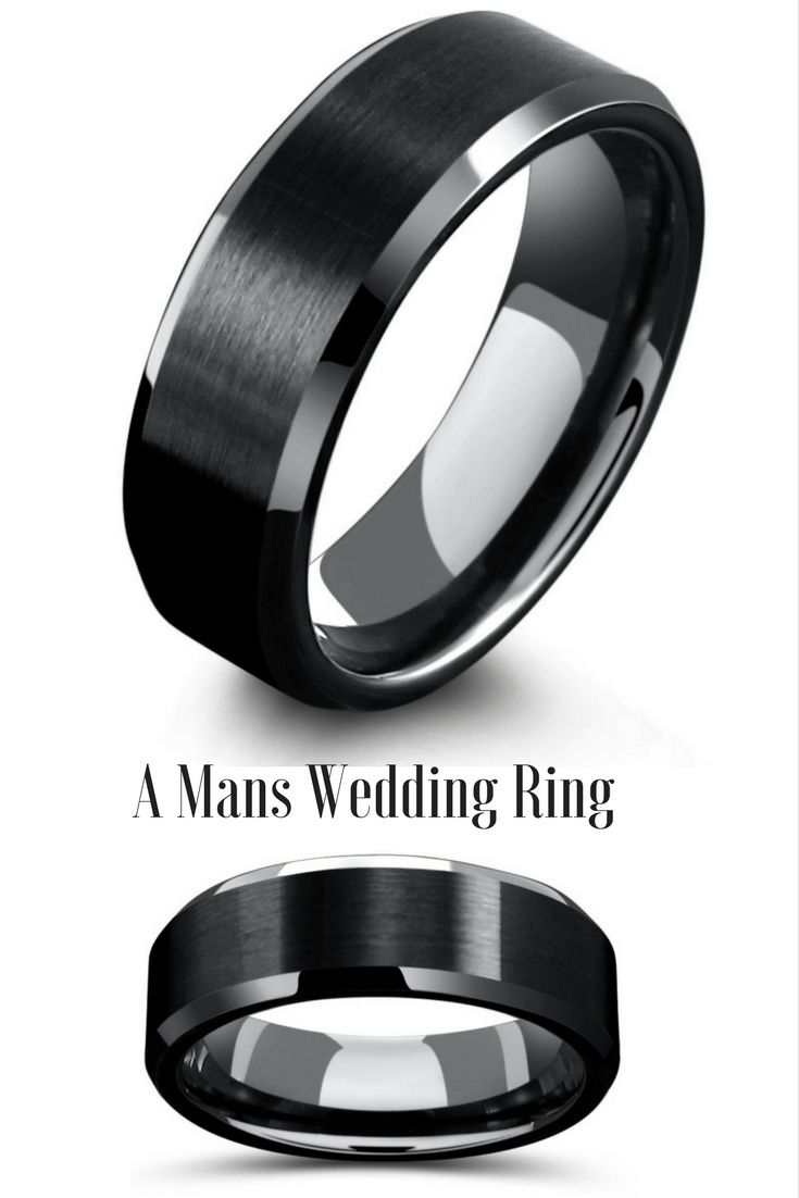 tungsten carbide wedding bands mens platinum wedding rings 8mm Mens Black Tungsten Wedding Ring With Matte Center