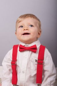 Red Polka Dot Bow Tie & Suspenders, red polka dot bow tie ...