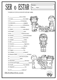 SER O ESTAR   Gratuito ELE worksheets   SPANISH Learning ...