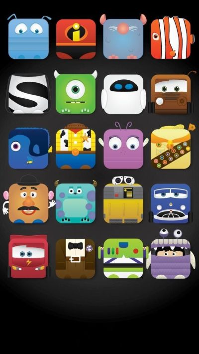 Disney Characters icon frame iPhone 5 wallpaper - Cute! | iPhone 5 Wallpapers | Pinterest ...