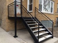 25+ best ideas about Outdoor stair railing on Pinterest