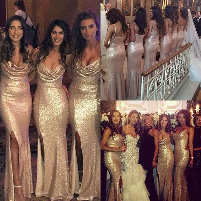 17 Best ideas about Gold Bridesmaid Dresses on Pinterest