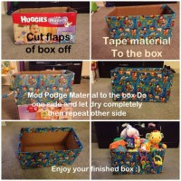 Mod podge diaper box | DIY baby | Pinterest | Diapers ...