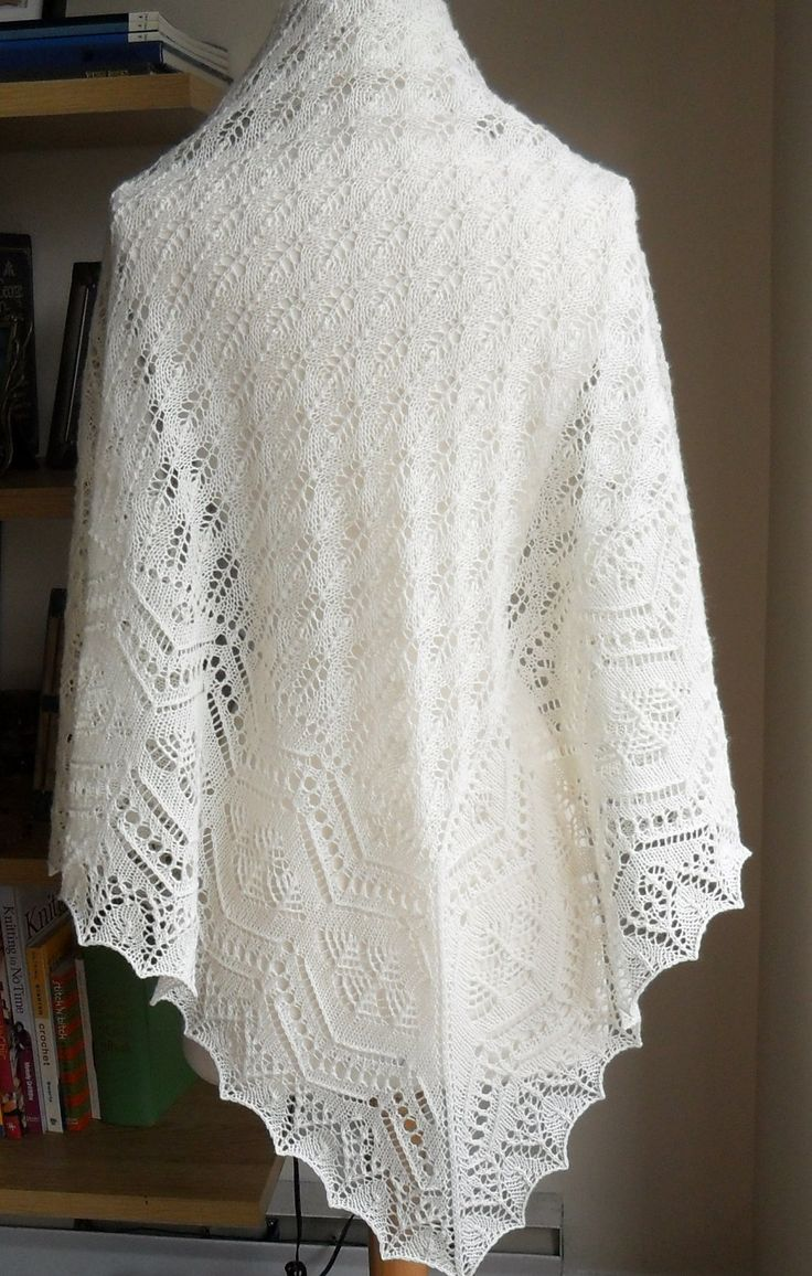 45 best images about knit lace shawls, Shetland on