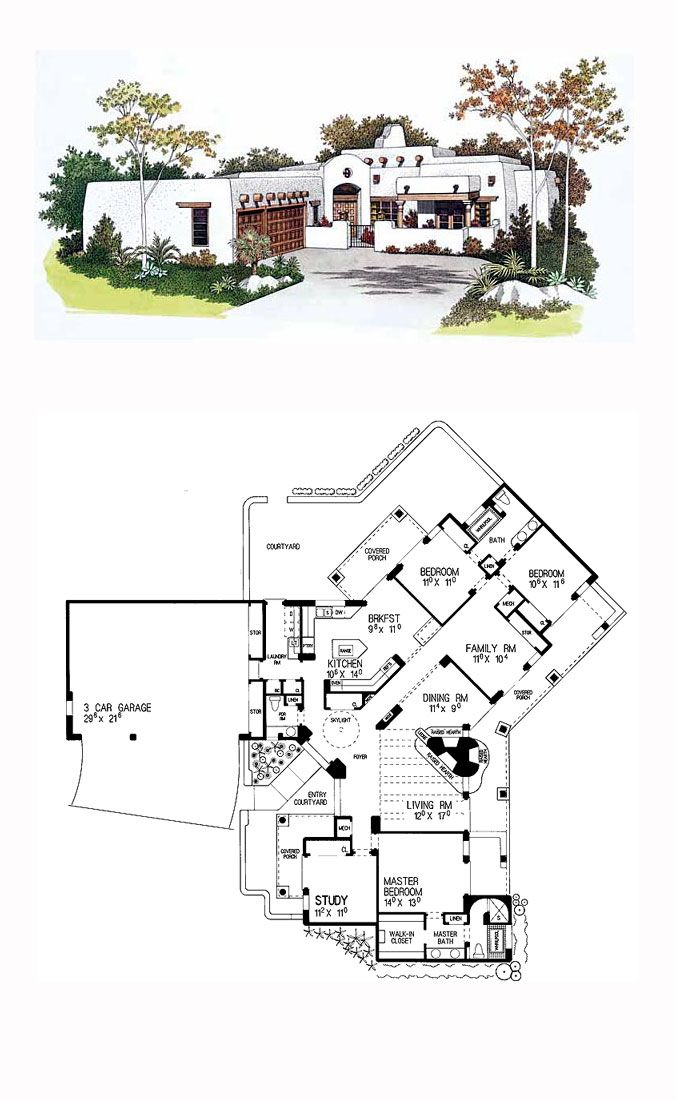 1000 images about adobe home plans on pinterest